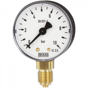 Type 111.10 - Bourdon tube pressure gauge  Lower mount, standard version