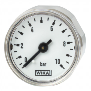 Type 111.12.27 - Miniature Bourdon tube pressure gauge  Back mount, standard version