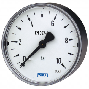 Type 111.12 - Bourdon tube pressure gauge  Back mount, standard version