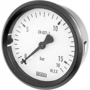 Type 111.26 - Bourdon tube pressure gauge  Back mount, panel mounting series with spring clips