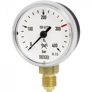 Type 111.31 - Bourdon tube pressure gauge  Safety version or welding gauge to ISO 5171