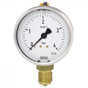 Type 113.53 - Bourdon tube pressure gauge  Standard version with liquid filling