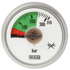 Type 116.15 - Pressure gauge with spiral tube  Back mount, Direct drive version
