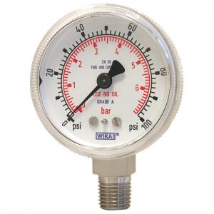 Type 130.15 - Bourdon tube pressure gauge  HP, stainless steel version
