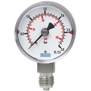 Type 131.11 - Bourdon tube pressure gauge  Stainless steel version