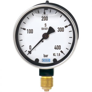 Type 213.40 - Bourdon Tube Pressure Gauges  Liquid Filling, Forged Brass Case