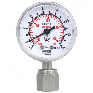 Type 230.15 - Bourdon tube pressure gauge  UHP, stainless steel version
