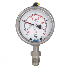 Type 232.35 - Bourdon tube pressure gauge  UHP, stainless steel, safety pattern version