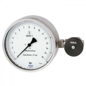 Type 332.11 - Bourdon tube pressure gauge  Test gauge, safety version, class 0.6