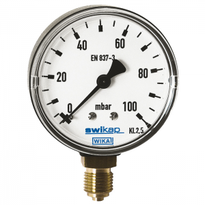 Type 611.13 - Capsule Pressure Gauges  Plastic Series