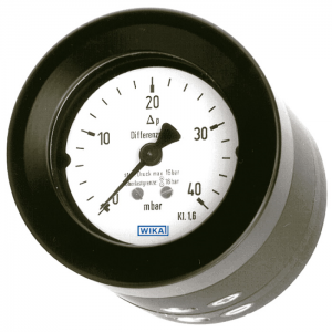 Type 716.05 - Differential Pressure Gauges  Compact Design, with Compression Spring and Sealing Diaphragm, High Overpressure Safety