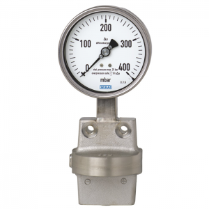 Type 732.51 - Differential pressure gauge  Stainless steel version, with diaphragm element, all welded construction
