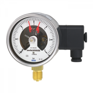 Types PGS21.100, PGS21.160 - Bourdon tube pressure gauge with switch contacts  Industrial series