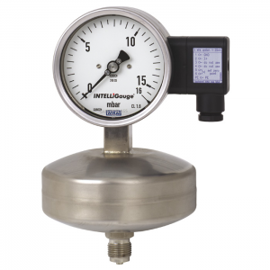Types PGT63HP.100, PGT63HP.160 - Capsule pressure gauge with electrical output signal  Stainless steel, safety version, high overpressure safety