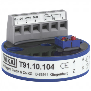 Types T91.10, T91.20 - Analogue Temperature Transmitters  Head Mounting DIN Form B or Head Mounting Form J