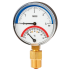 Types 100.0x, 100.1x - Bimetall-Thermomanometer  For pressure and temperature measurement