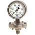 Types 432.56, 432.36 - Diaphragm pressure gauge, Stainless steel version  High overpressure safety up to 100 bar or safety version high overpressure safety up to 400 bar