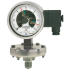 Types 432.36+8xx, 432.56+8xx - Diaphragm pressure gauge with switch contacts  High overpressure safety up to 100 bar or safety version, high overpressure safety up to 400 bar