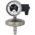 Type 532.53+8xx - Absolute pressure gauges  Stainless steel series, with diaphragm element, with switch contacts