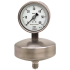 Type 632.51 - Capsule pressure gauge  Stainless steel version, high overpressure safety