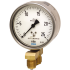 Types 716.11, 736.11 - Differential pressure gauge with capsule element  Measuring system copper alloy or stainless steel