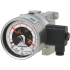 Types DPGS43HP.100, DPGS43HP.160 - Differential pressure gauge with switch contacts  Universal version, high overpressure safety