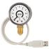 Type PGT10 USB - Bourdon tube pressure gauge with USB interface  Plastic case