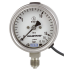 Type PGT23.063 - Bourdon Tube Pressure Gauges with Electrical Output Signal  Stainless Steel, Safety Pattern Version