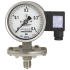 Types PGT43.100, PGT43.160 - Diaphragm pressure gauge with electrical output signal  Stainless steel, safety version