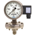 Types PGT43HP.100, PGT43HP.160 - Diaphragm pressure gauge with electrical output signal  Stainless steel, safety version High overpressure safety up to 400 bar